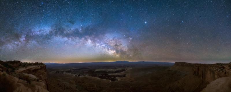 Canyonlands Milkyway Panorama