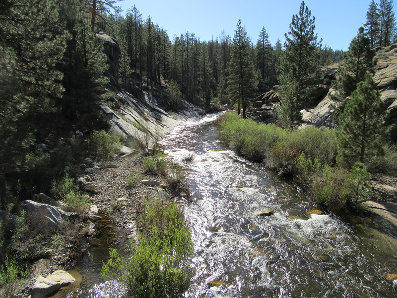 ... the Little Kern River flowing down from the north.