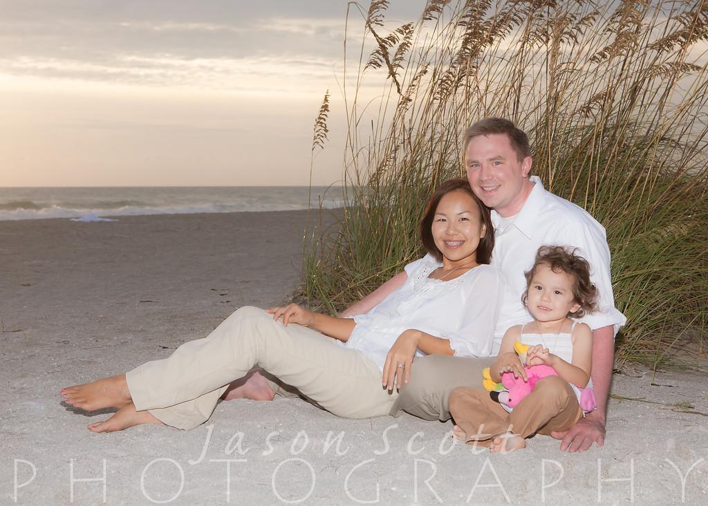 Family Beach Portraits on Siesta Key, Longboat Key, Englewood Beach, or Venice Beach by Jason Scott Photography