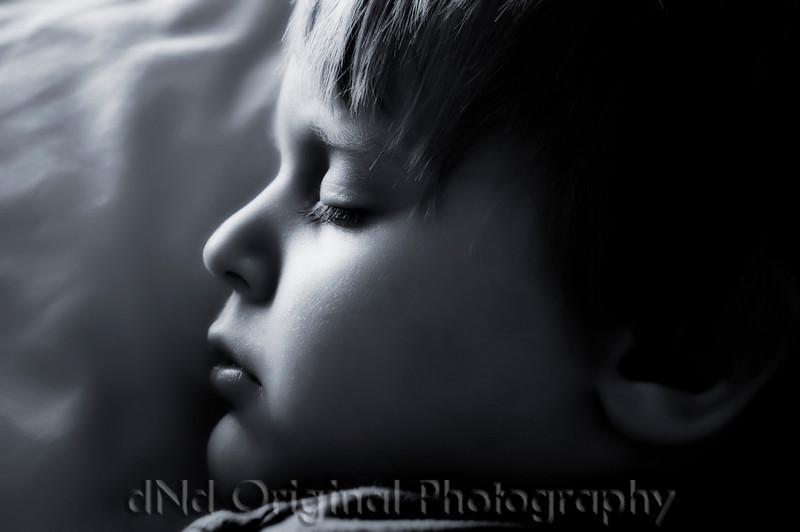 075 Ian Sleeps Over July 2008 - Fell Asleep On Couch (nik b&w)(nik glamorglow).jpg