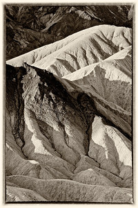 Zabriskie Point in Black & White-Death Valley