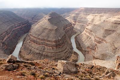 Goosenecks of the San Juan River April 2020