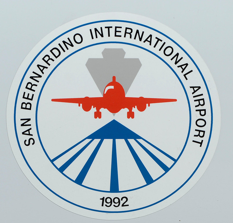 . A view the logo for the San Bernardino International Airport March 28, 2013.  Built on the former the site of the former Norton Air Force Base, is often described by local officials as one of the East Valley\'s best hopes for economic growth. Norton closed in 1994.  GABRIEL LUIS ACOSTA/STAFF PHOTOGRAPHER.