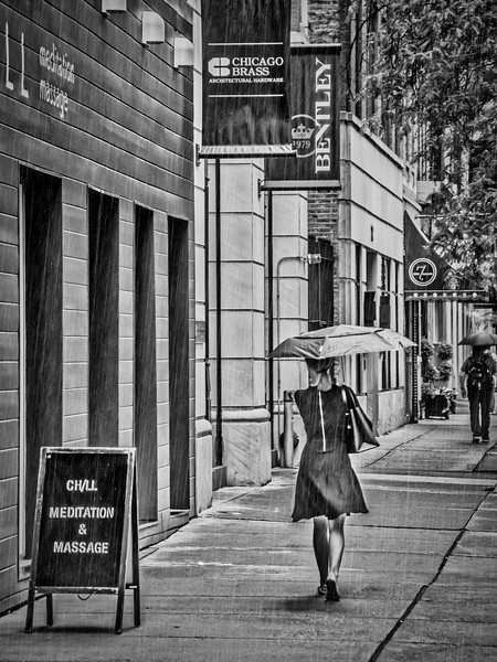 Kinzie Street - Rainy Morning