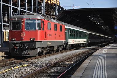 Switzerland: Andermatt to Basel via Zurich. Tuesday 19th February 2019