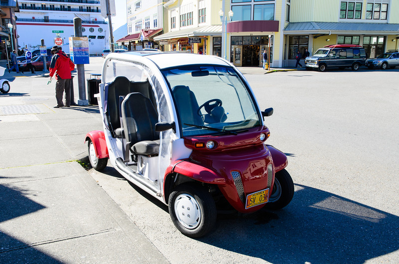 In Ketchikan, AK you can rent these little cars for the day!