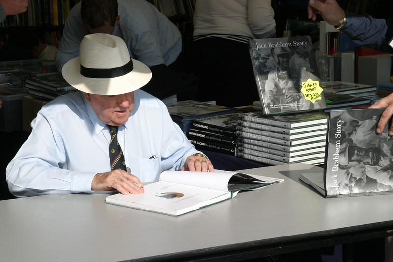 "Book signing 2004: Sir  ""Jack"" Brabham, AO, OBE  Australian Formula One champion in 1959, 1960, and 1966."