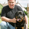 Alan McComb with Tyson at the pet show during the Markethill festival. 06W32N16