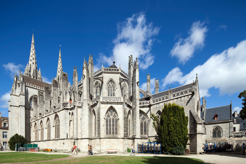 Saint-Corentin Cathedral, town of Quimper, departament of Finistere, region of Brittany, France