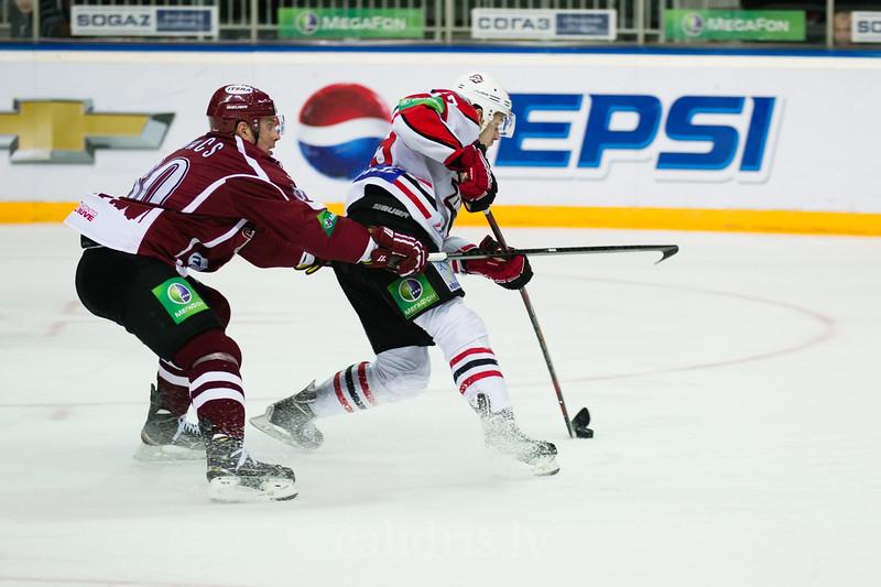 Gagarina kausa izslēgšanas pirmā posma ceturtā spēle starp Dinamo Riga un Donbass Donetsk komandām Arēnā Rīga