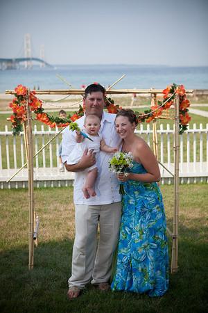 Mackinaw City Wedding Photography lighthouse bridge Tiffany + Rick