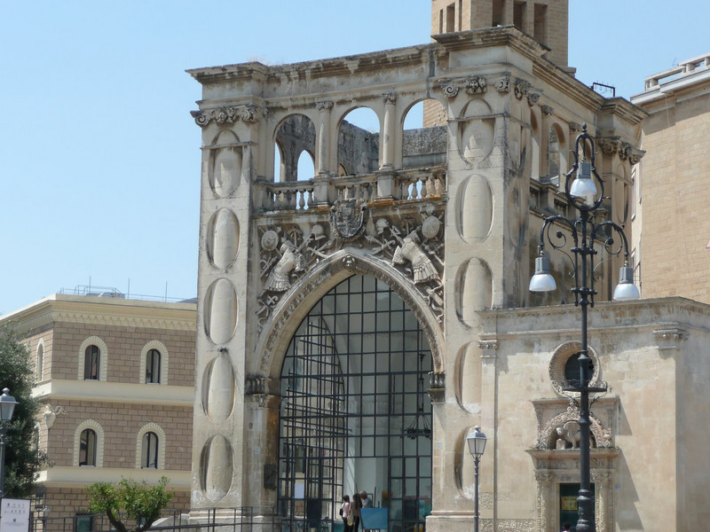 The Sedile in Piazza Sant' Oronzo in Lecce - Town hall until 1851