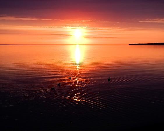 sunsets with Rachel (Mackinac Island)