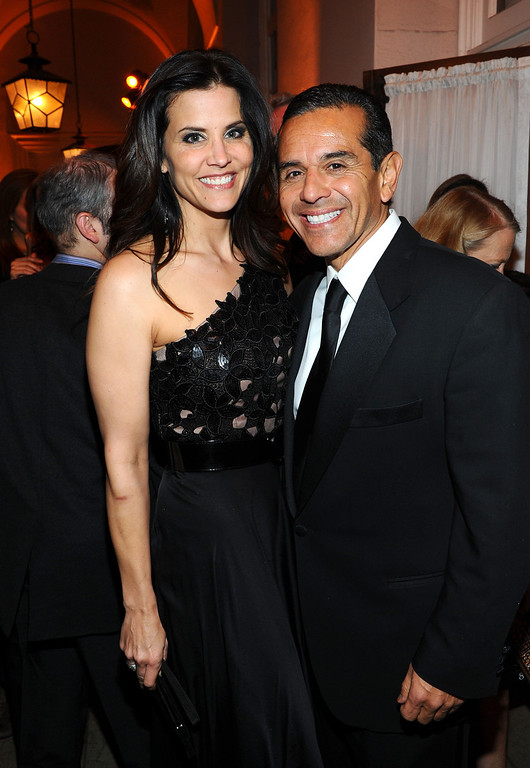 ". Lu Parker (L) and Antonio Villaraigosa attend the one-night reading of ""8\"" presented by The American Foundation For Equal Rights & Broadway Impact at The Wilshire Ebell Theatre on March 3, 2012 in Los Angeles, California.  (Photo by Michael Buckner/Getty Images  for American Foundation for Equal Rights)"