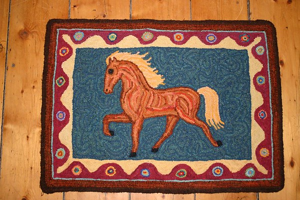 Some of Sarah's Hooked Rugs
