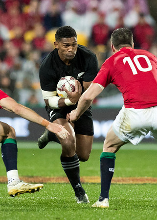 Waisake Naholo during game 9 of the British and Irish Lions 2017 Tour of New Zealand, the second Test match between  The All Blacks and British and Irish Lions, Westpac Stadium, Wellington, Saturday 1st July 2017 (Photo by Kevin Booth Steve Haag Sports)  Images for social media must have consent from Steve Haag