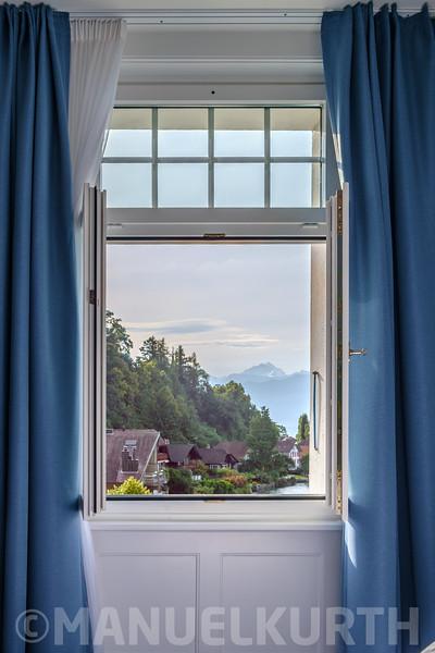 Hotelfensterblick auf die Jungfrau