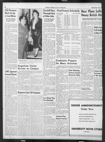 Daily Trojan, Vol. 32, No. 141, May 14, 1941