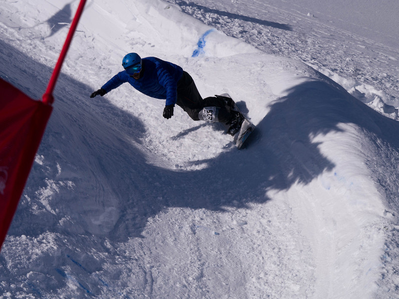 Competitor in the Legendary Banked Slalom at Mt Baker