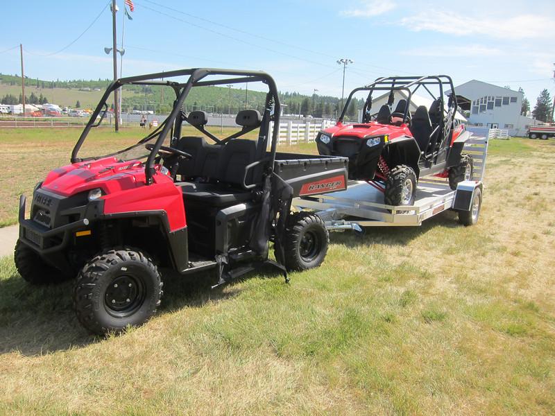 Some cool ATVs on display.