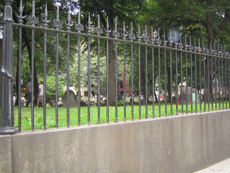 The Old Granary Burying Ground - Many patriot leaders are buried here including Samuel Adams, John Hancock, and Paul Revere