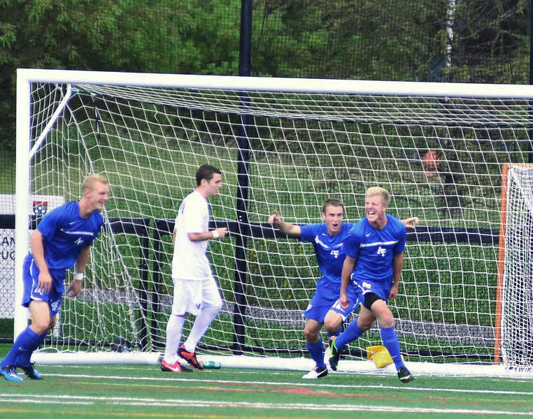 Brian Klazura after scoring the only goal of the game.
