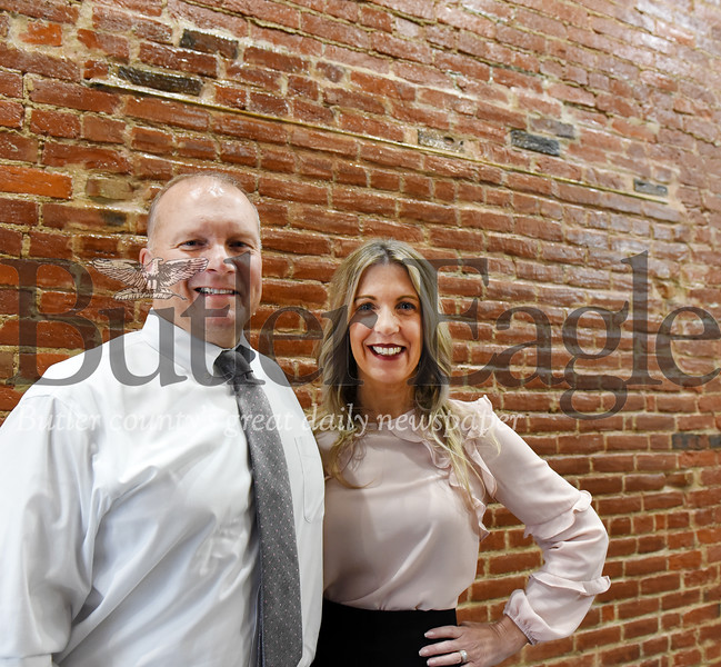 Harold Aughton/Butler Eagle: Gary and Jennifer Vanasdale plan to knock down the brick wall behind them to access their new building at 251 South Butler.