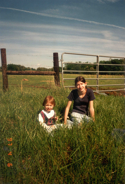 mandy & tahirih in pasture
