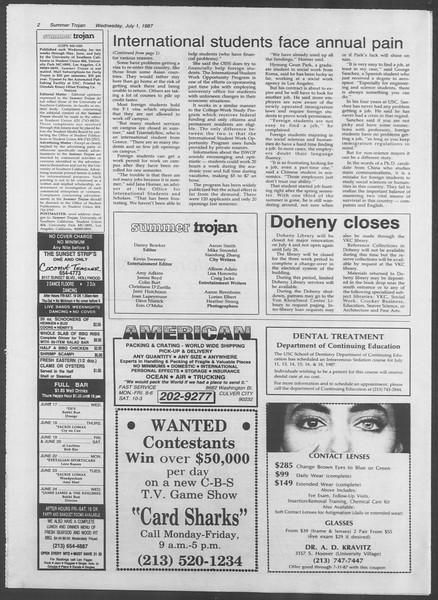 Summer Trojan, Vol. 104, No. 7, July 01, 1987