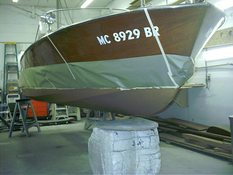 Front view of bottom painted.