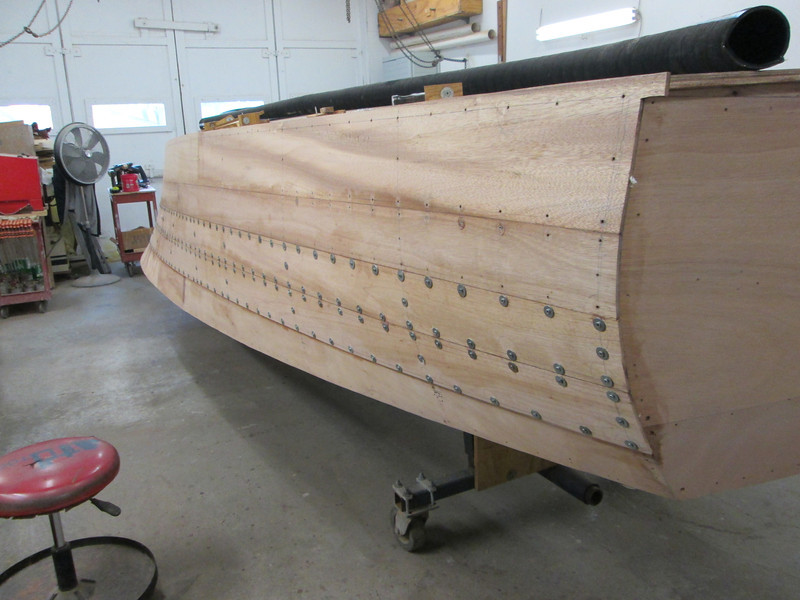 Rear starboard view of second two planks.