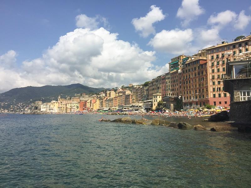 Camogli from private beach