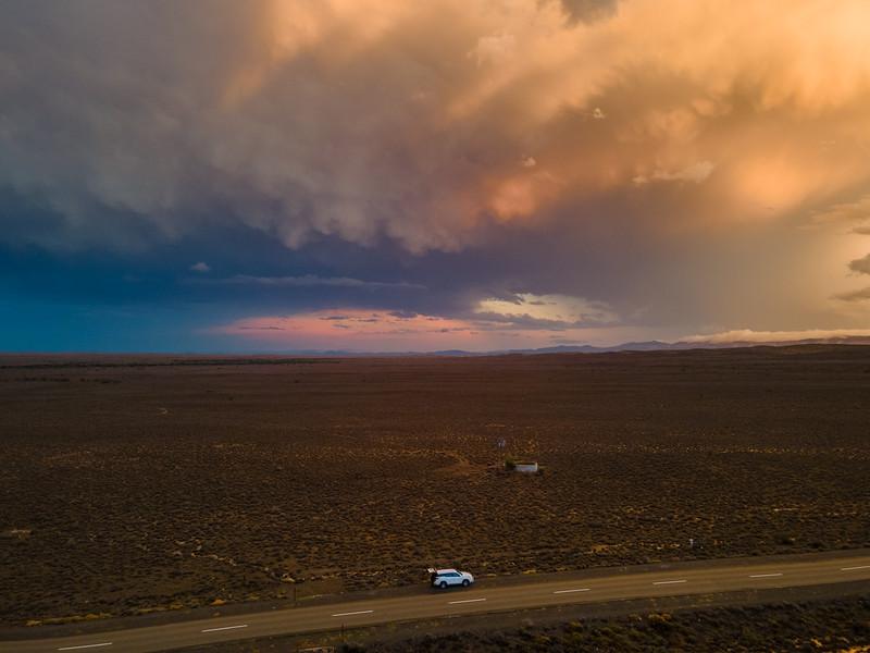 Rain road, Karoo, South Africa