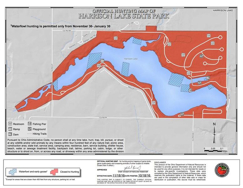 Harrison Lake State Park (Hunting Map)