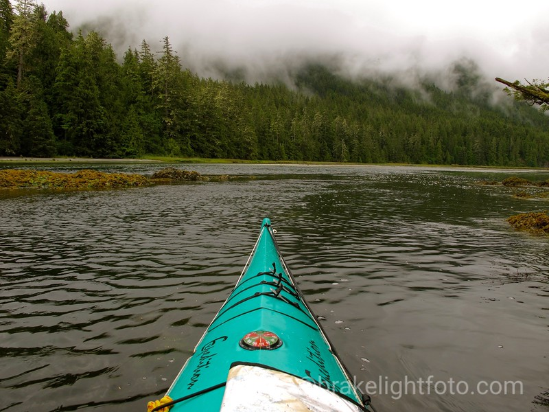 Heading up an Inlet in Louie Bay