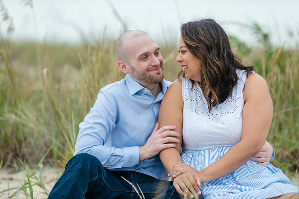 Christina + Kurtis - 80th Street Virginia Beach Engagement