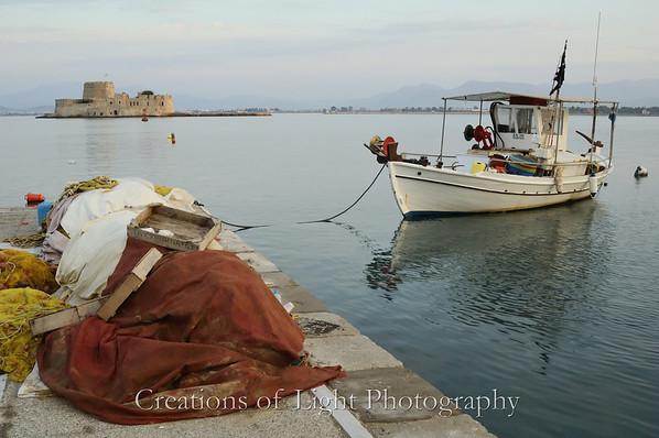 Boats in Nafplion, Greece
