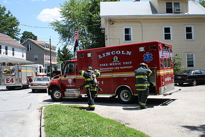 Lincoln RI Fire Dept. In Action 07/09