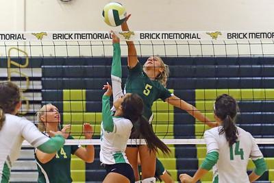 Brick Memorial vs Brick High School girls volleyball