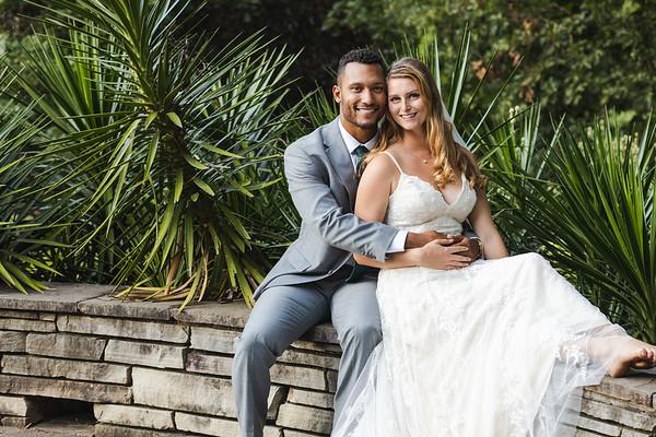 Grace & Davion | Intimate Garden Wedding at Fred Fletcher Park in Raleigh