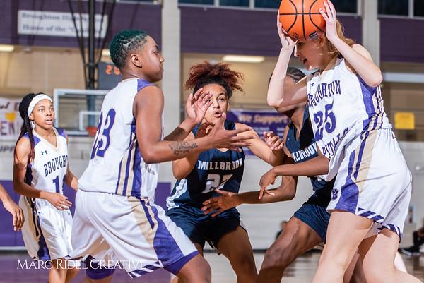 Broughton girls varsity basketball vs Millbrook. February 15, 2019. 750_7354