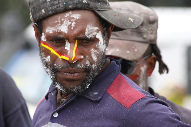 Hela tribesman painted for revenge