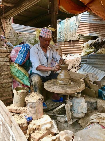 potter in Patan