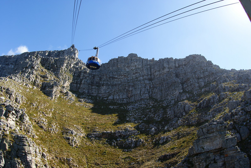 This is on the cable car to the top of Table Mountain