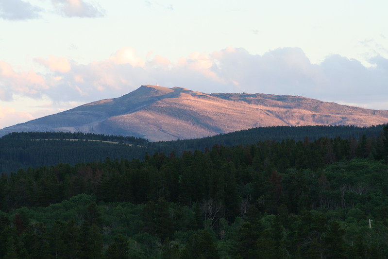 20110825 - 005 - GNP - Sunset From Glacier Park Lodge.JPG