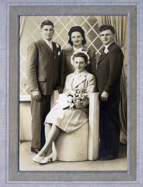 Fred & Rita (sitting), Gloria Frisque (Rita's sister) & Willie Olson