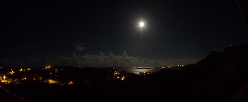 Moon rise over Cruz Bay, St John, USVI