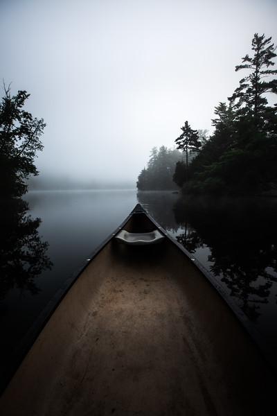 Misty Morning Canoe on Lac Girard
