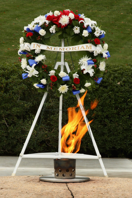 . The Eternal Flame burns at the gravesite of former U.S. President John F. Kennedy at Arlington National Cemetery November 22, 2013 in Arlington, Virginia. Remembrance ceremonies will be held across the United States today, the 50th anniversary of the assassination of President Kennedy.  (Photo by Chip Somodevilla/Getty Images)