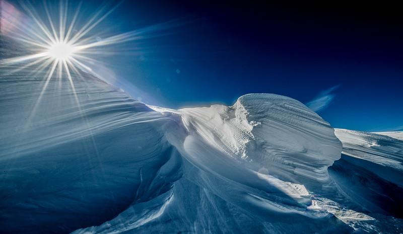 Beautiful snow drift